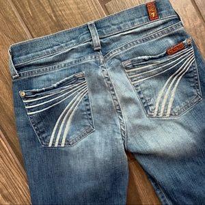 7 For All Mankind DOJO Wide Leg Flare Jeans Sz 24